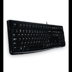 Logitech K120 keyboard USB QWERTZ Slovakian Black
