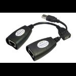 Comprehensive USBA-RJ45-EXT Network transmitter & receiver Black