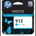 HP Cartucho de tinta Original 912 cian