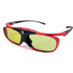 Optoma ZD302 stereoscopic 3D glasses Black, Red 1 pc(s)