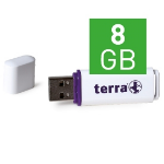 Wortmann AG TERRA USBee USB2.0 8GB 14/4 8GB USB 2.0 Type-A White USB flash drive