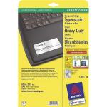Avery L6011-20 printer label Silver