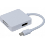 Hypertec 127381-HY cable interface/gender adapter Mini Displayport DVI/HDMI/DP White