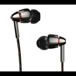 1More Quad Driver In Ear Headphones Black Intraaural In-ear