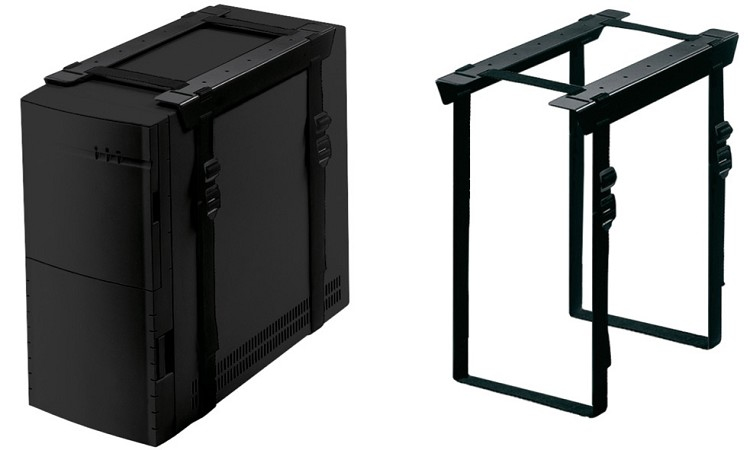 Newstar Under Desk PC Mount (Suitable PC Dimensions - Height: 3-60 cm / Width: 8-70 cm) - Black