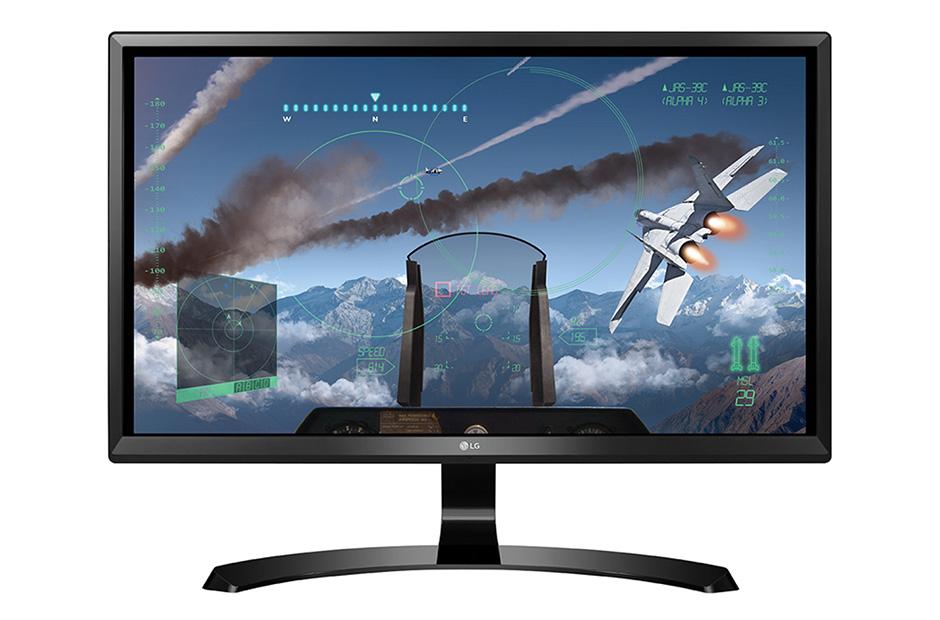 "LG 24UD58 23.8"" 4K Ultra HD IPS Black computer monitor"