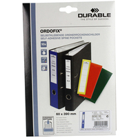 Durable ORDOFIX 60 MM Rectangle Blue 10pc(s) self-adhesive label