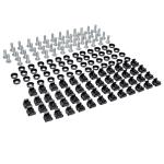 Tripp Lite Rack Enclosure Server Cabinet Square Hole Hardware 12-24 Screws & Washers 50PC