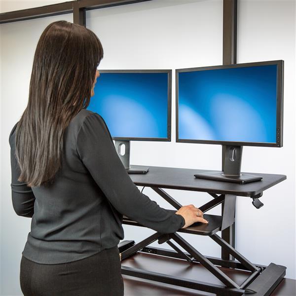 Startech Com Sit Stand Desk Converter With 35 Work Surface