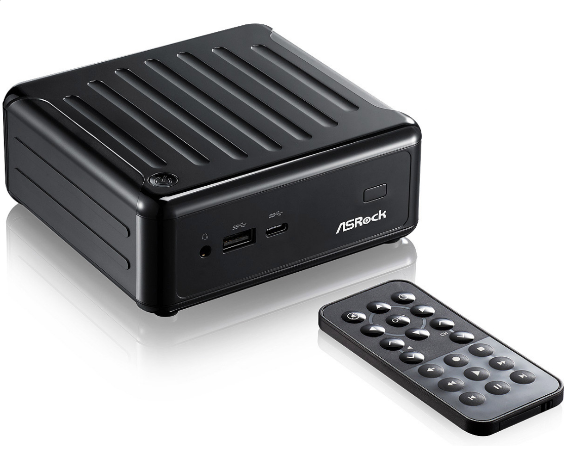 Asrock Komplettsysteme 1.6GHz J3160 0.6L sized PC Black