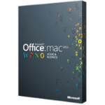 Microsoft Office for Mac Home & Business 2011, 1u, DVD, EN 1user(s) English