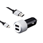 JustMobile CC-178S Auto Black, Silver mobile device charger