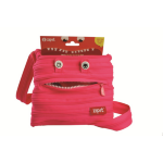 CLEARANCE ZIPIT MINI SHOULDER BAG ZIPIT 21x19cm MONSTER HOT PINK(EACH)