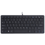 R-Go Tools R-Go Compact Keyboard, QWERTY (UK), black, wired