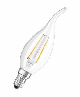 Osram LED Retrofit CLASSIC BA LED bulb Warm white 2 W E14 A++