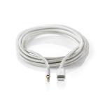 Nedis CCTB39940AL10 lightning cable 1 m Aluminium