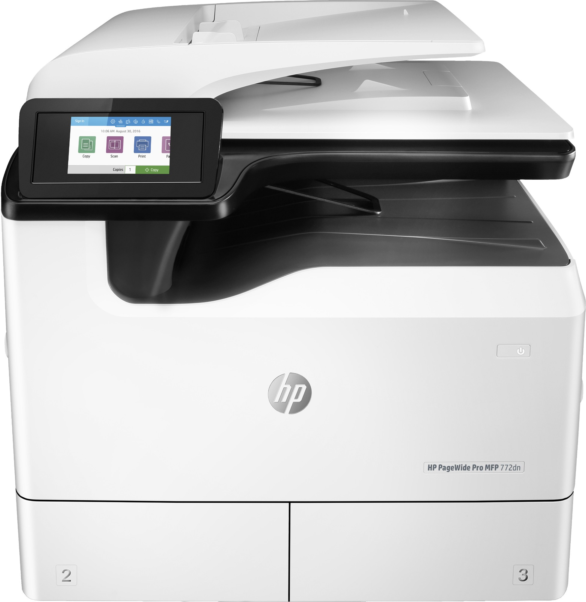 HP PageWide Pro MFP 772dn Thermal Inkjet 55 ppm 2400 x 1200 DPI A3
