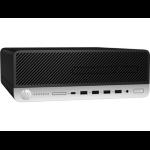 HP ProDesk 600 G4 Intel® 8ste generatie Core™ i5 i5-8600 8 GB DDR4-SDRAM 256 GB SSD Zwart, Zilver SFF PC