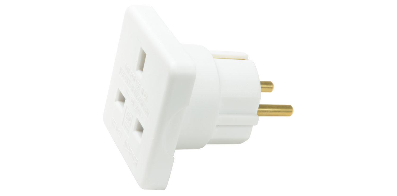 Mercury 429.905UK Type G (UK) Type C (Europlug) White power plug adapter