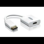 Aten DisplayPort/HDMI DisplayPort Male HDMI Type A female White