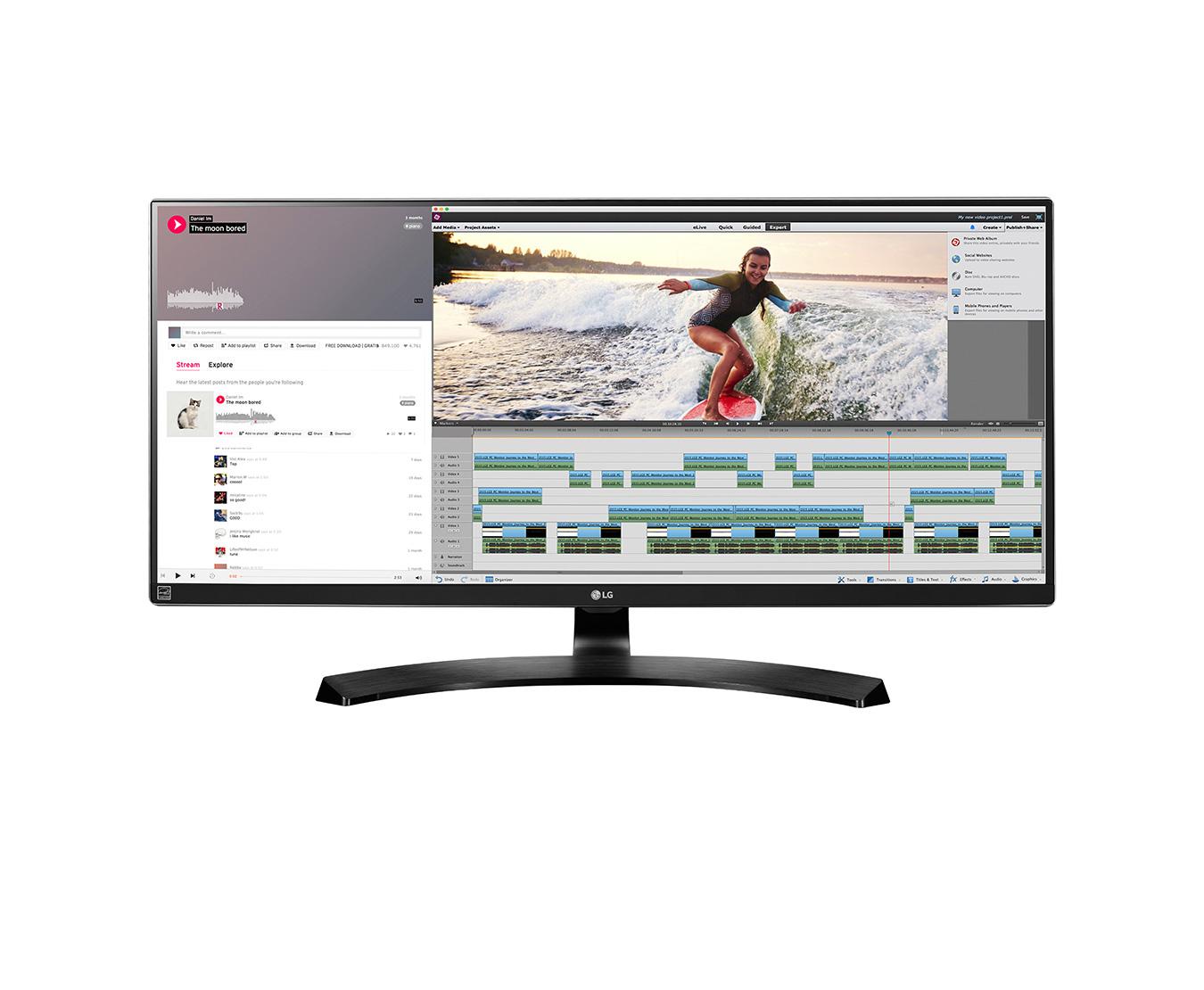"""LG 34UM88C LED display 86.4 cm (34"""") Ultra-Wide Quad HD Flat Black"""