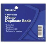 Silvine DUP BOOK 4.1X5 MEMO NCR 703-T