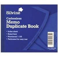 Silvine DUP BOOK 4.1X5 MEMO NCR 703-T