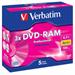 Verbatim DVD-RAM 3x 4.7GB DVD-RAM 5pc(s)