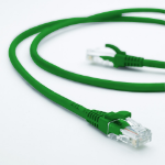 Cabac Hypertec 0.5m CAT5 RJ45 LAN Ethenet Network Green Patch Lead (LS)