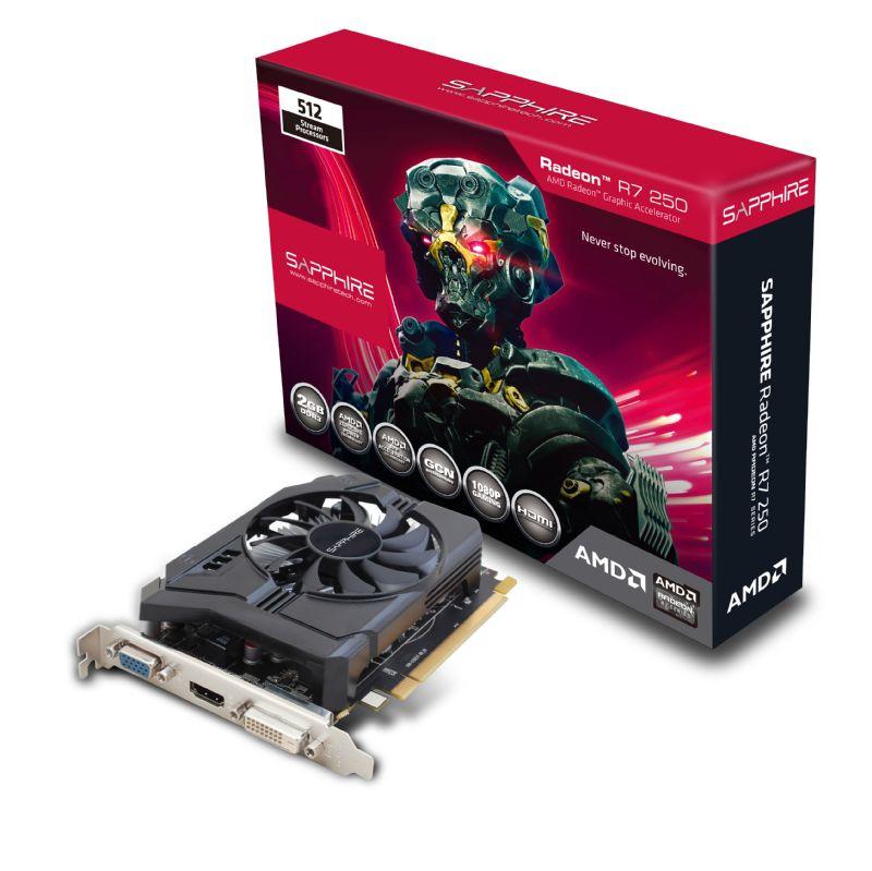 Sapphire Radeon R7 250 2GB GDDR3 AMD Radeon R7 250 2GB 11215-21-20G