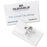 Durable BADGE 40X75MM COMBI CLIP NAME PK50 8141