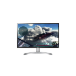 "LG 27UK600-W 27"" 4K Ultra HD AH-IPS Silver, White Flat computer monitor"