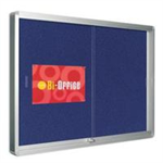 Bi-Office GLZD DISP CASE 1000X700 BLU