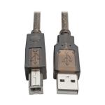 """Tripp Lite U042-030 USB cable 359.8"""" (9.14 m) USB A USB B Black,Translucent"""