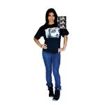 MERONCOURT Digital Dudz Unisex Creepy Doll Face Digital T-Shirt, Large, Black (DDTCDFL-L)