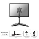 "Newstar NM-D335BLACK 30"" Clamp Black flat panel desk mount"
