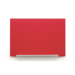 Nobo Diamond Glass Board Magnetic Red 1264x711mm