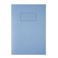 Silvine A4 EXER BOOK 80PG PLAIN BLUE
