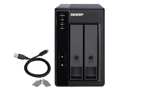 QNAP TR-002 disk array Black