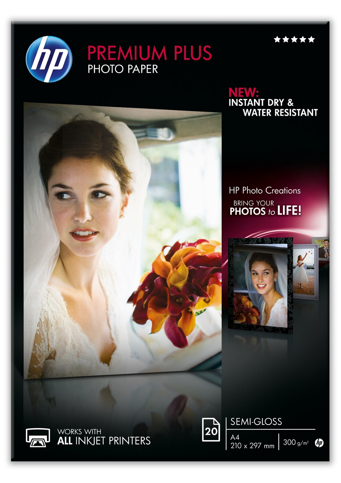HP Premium Plus Semi-gloss Photo Paper pak fotopapier A3