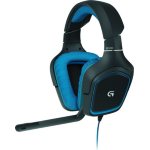 Logitech G430 Binaural Head-band Black,Blue headset