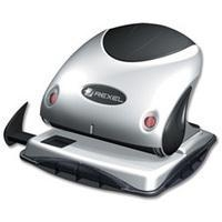 Rexel Precision 215 2 Hole Punch Silver/Black