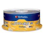 Verbatim DVD+RW 4.7GB 4X Branded 30pk Spindle 4.7GB DVD+RW 30pc(s)