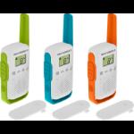 Motorola T42 two-way radio 16 channels Blue, Green, Orange, White