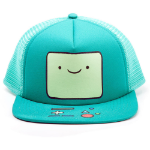 ADVENTURE TIME Beemo Video Game Console Face Trucker Snapback Baseball Cap, One Size, Turquoise (BA0PNRADV)