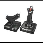 Logitech G X52 Professional H.O.T.A.S. Flight Sim PC Analogue / Digital USB 2.0 Black, Grey