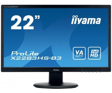 "iiyama ProLite X2283HS-B3 LED display 54.6 cm (21.5"") Full HD Flat Matt Black"