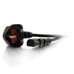 C2G 10m Power Cable Black BS 1363 C13 coupler