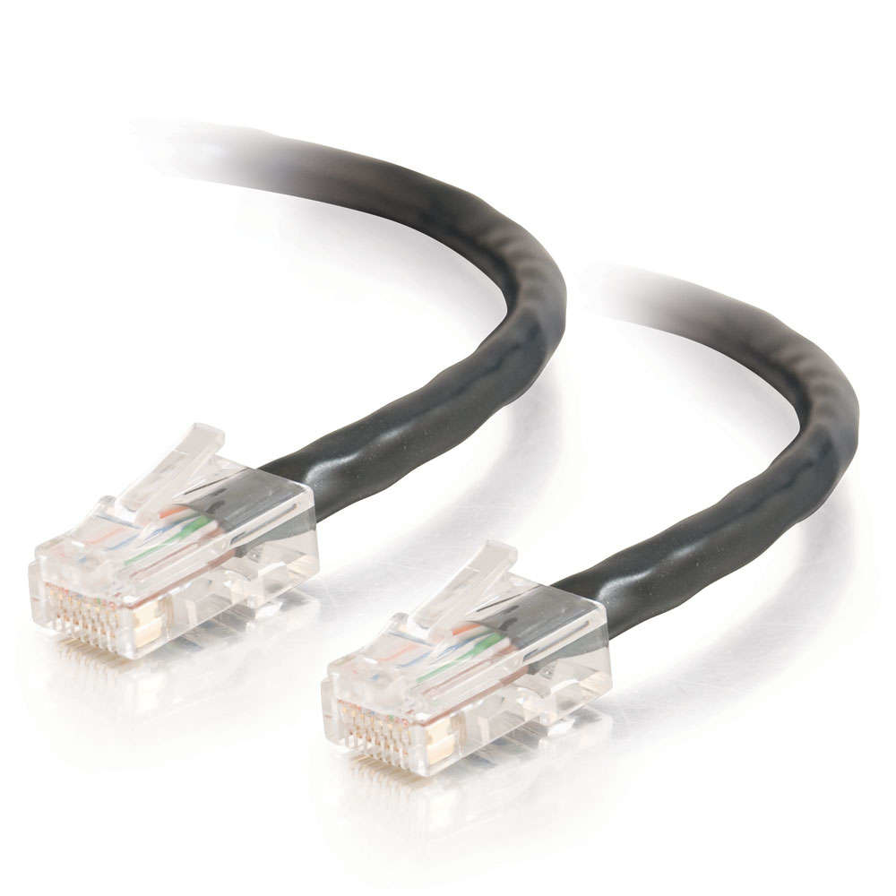 C2G Cat5E Assembled UTP Patch Cable Black 10m