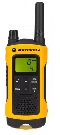 Motorola TLKR T80 Extreme 8channels 12500MHz Black, Yellow two-way radio